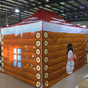 Santa Grotto Pop Up Gazebo 3m x 4.5m Printed (Top + Frame + Sides Double sided Print)
